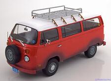 1:18 Greenlight VW Bulli T2 Field of Dreams 1973 red/white Dirt Look