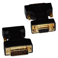 Adaptador de DVI a VGA DVI-A/SVGA HD15 Cable de Monitor Analógico Oro Convertidor de plomo