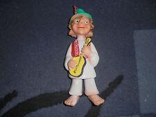Vintage Doll In National Close Ex-Yugoslavia Rubber Toy - Biserka - Rare (Vk-01)