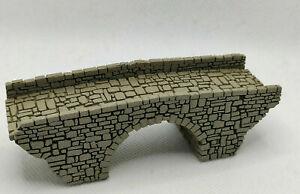 Track N Stone Arch Bridge Laser Engraved Painted