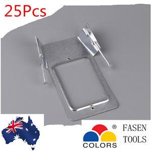 25Pcs Power Point, Light Switch, 1mm Horizontal Brackets with Nail