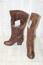 Fergalicious Lundry Wide Calf Faux Leather Tall Boots, Women's Size 6.5M, Cognac