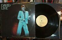 David Bowie David Live CPL2-0771-1 US Dynaflex press 2LP SET GATEFOLD EX VINYL