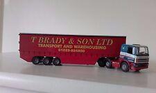 TEKNO T BRADY & SON LTD DAF 85/Curtainside Trailer in Original Box VERY RARE!!!