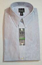 $87.50 Jos A Bank Traveler Blue striped dress shirt 16 - 36 Tailored Fit