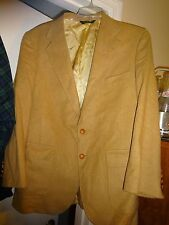 PATRICK JAMES Wool Sports Coat Sportscoat Size 44R Camel 2 Button
