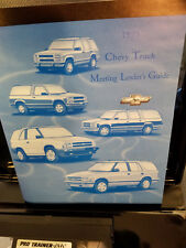 1995 Chevy Truck Training Sales Guide and Tapes