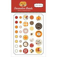 Scrapbooking BRADS Thanksgiving HELLO FALL Collection Carta Balla 34 pieces New