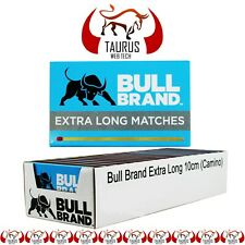 BULL Brand MATCHES Cooking BBQ Candle Fireplace Fire 10cm Long Safety Tobacco UK
