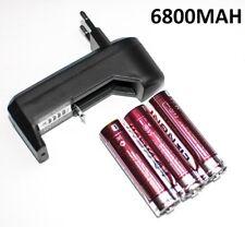 3X PILA RECARGABLE 6800MAH 18650 4,2V + CARGADOR DE PILAS 10440 16340 CARGAR