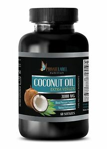 Immune System Booster - Coconut Oil Organic 3000mg - Healthy Hair - 60 Pills