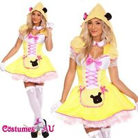 Ladies Goldilocks Fairy tale Costume Halloween Disney Storybook Fancy Dress