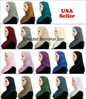 One Piece Cotton Hijab Slip On Hijabs READY JERSEY Muslim woman Scarf