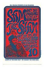 Bill Graham 22 Postcard Sam the Sham & the Pharaohs Sit-ins 1966 Aug 10