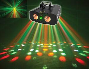 American DJ Galaxian Gem IR Dual Moonflower+Green Laser Multi Effect Light ADJ