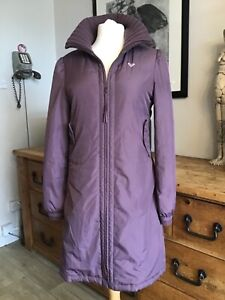 ROXY QUIKSILVER Size 12/14 Padded/Quilted Puffa Style Below Knee Lined Coat