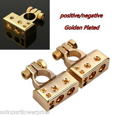 12V Gold Plated Vehicle Audio Battery Terminal Positive/Nagative Clamp Connector