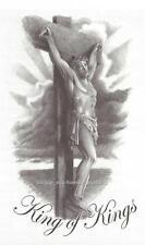 JESUS KING OF KINGS on the cross  Temporary Tattoo grey tones