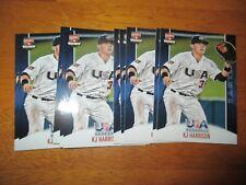 Lot (10) K.J. HARRISON Brewers KJ 2015 Panini USA Baseball Box Set Card #12 QTY