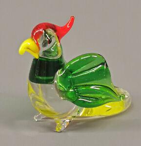 9912080-x Glas Figure Parrot Green Parakeet Bird H3cm Mouth-Blown