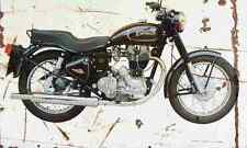 Enfield Bullet500 1990 Aged Vintage SIGN A4 Retro