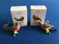 Lady Robin (Lmt Ed) and Robin: Beauty of Birds 2018 Hallmark Keepsake ornaments