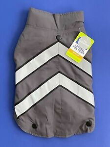 Top Paw 2-in-1 Reflective Grey Sweater & Coat Fashion Dog Apparel M NWT