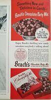 1947 Brachs chocolate party mix candy vintage color AD