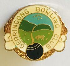 Gerringong Bowling Club Badge Pin Rare Vintage (L30)