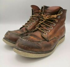 Red Wing 6-Inch Boots 875 Classic Moc Toe Oro Legacy Scarpe US 8.5 UK7.5 EU 41.5