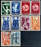 1948-1952>SAAR> Industry,Olympic Helsinki & Saar Fair>Unused,Used,CV$33.72.