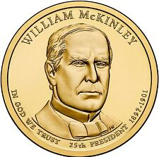 "2013 P William McKinley Presidential Dollar ""Brilliant Uncirculated"" US Coin"
