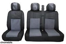gris noir tissu Housses de siège 2+1 pour FIAT DUCATO SCUDO IVECO DAILY NEUF