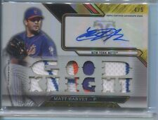 2016 TOPPS TRIBUTE MATT HARVEY AUTOGRAPH RELIC 1/9 NEW YORK METS