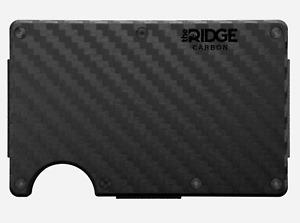 NEW Ridge Carbon Fiber Wallet W/ Cash Strap Black