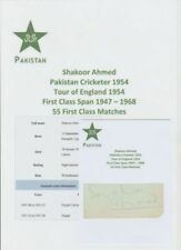 Pakistan Signed Cricket Photos Autographed Cricket