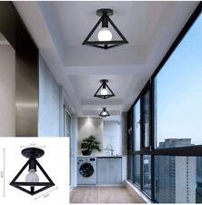 Vintage Triangle Ceiling Light E27 Chandelier Lamp Fixtures Room Hallway Porch