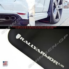 """Rally Armor UR """"Black Mud Flaps with Silver Logo"""" for 2015+ VW MKVII Golf R"""