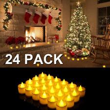 24 PCS Xmas Flameless Votive Tealight Candles Battery Operated LED Tea Light