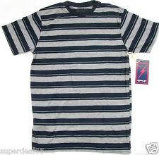 Lightning Bolt T Shirt Soda Stripe Short Sleeve Dress Blue  Retro Vintage Styled