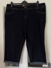 BRAND NEW YES YES DARK BLUE DENIM SLIM CROPPED JEANS - SIZE 24!!