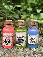 Zombie Virus, Biohazard and Healing Potion Halloween Apothecary Walking Dead
