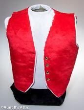 Vest Red & White Unisex Accessory Faux Fur Holiday Vest