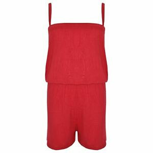 Kids Girls Plain Color Playsuit Trendy Summer All In One Jumpsuit New Age 5-13