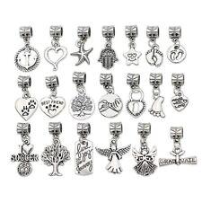 20PCS Mix Tibetan Silver Charm Beads pendant for Bracelet Accessories Craft DIY