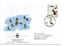 CROATIA  2004 WWF  FDC  Endangered Species.  Purple Heron  SG756