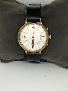 Fossil FTW5018 Women's Leather Analog Hybrid Smart Watch With Custom Band WB117