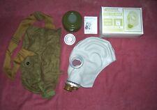 Orig Unissued Nbc Civil Gas Mask Model Gp 5 Sz Large Complete With Bag
