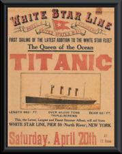Titanic Advertisement Flyer White Star Line Reprint On Original 1912 Paper *052