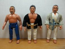 VINTAGE KARATE KID ACTION FIGURES LOT MR MIYAGI SATO TV MOVIE REMCO PLAY TOYS